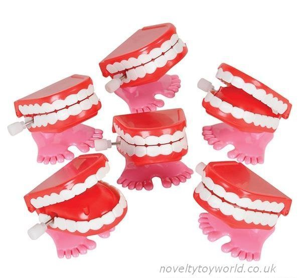 Bulk Buy Small Wind Up Novelty Chattering Teeth Toy 7cm