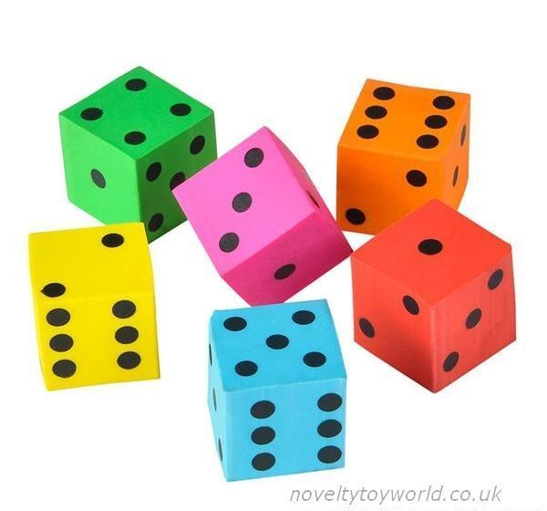 Wholesale Coloured Dice Erasers Rubbers 2cm