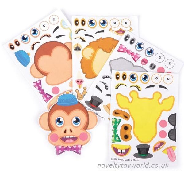 Make Your Own Zoo Animal Stickers 10cm X 15cm