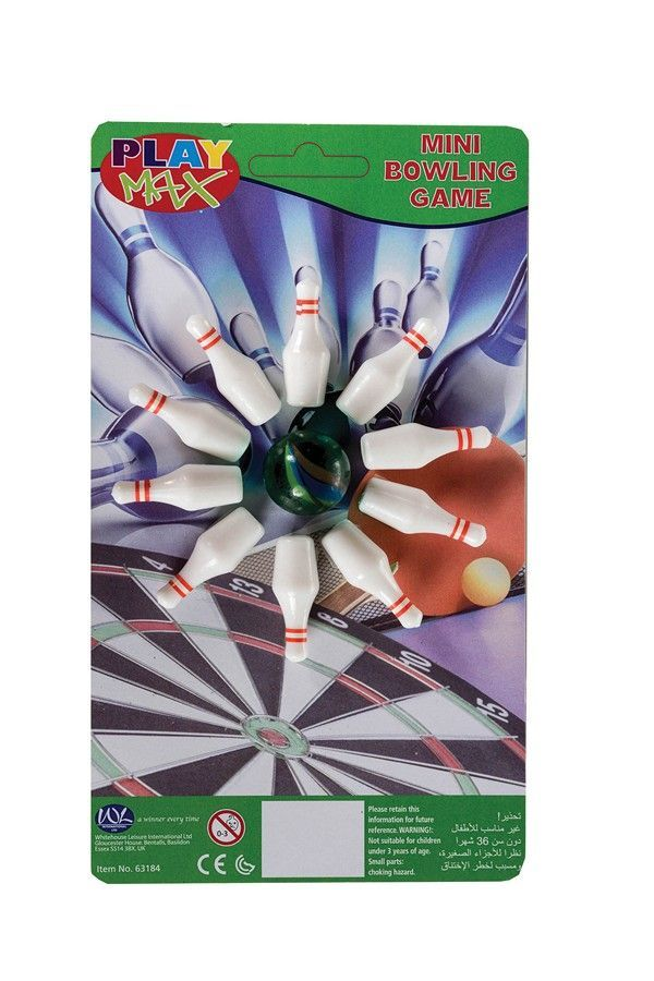 Mini Bowling Game with Pins & Bowling Ball - Desktop Toys