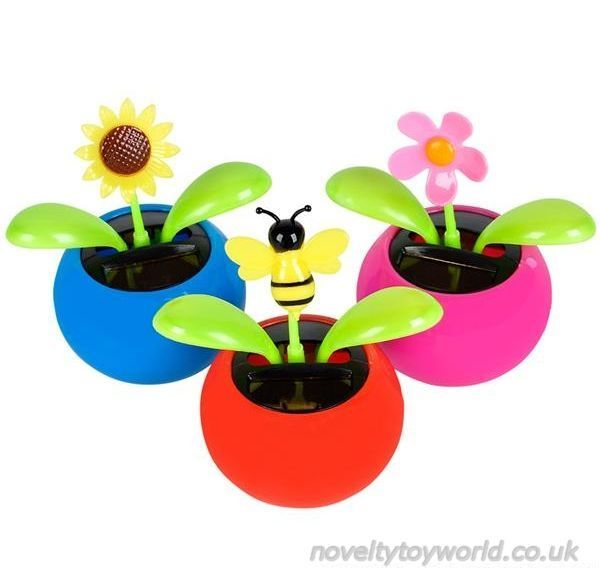 218 & Wholesale | Mini Solar Powered Flower Pot Toys - Assorted Types (7cm)